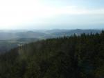 Pohled směrem na západ, tedy k Sušici a Svatoboru