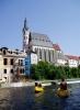 U kostela sv. Víta nás vítá další jez, kde se nabírá voda-Mrázkův mlýn.