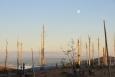 Co je také dobře vidět je Lipno, spolu s mělkým talířem bájné Luny.