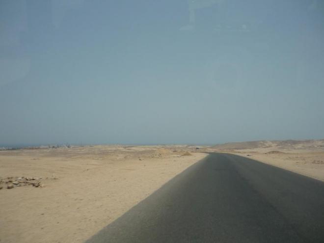 Opět cesta a poušť