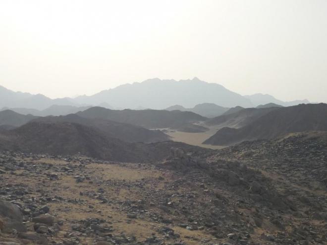 Výhled na hory Rudého moře