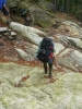 Trochu jsme si i zalezli, jelikož žádná hezká cestička po skalách ve strži nevedla.