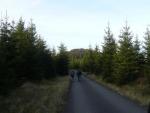 Nahoře po výstupu z údolí jsme došli na zelenou, která brzy opustí silnici a klikatí se mezi skalami. Dnes už je však pozdě, a tak skončíme u vrchu na obzoru.