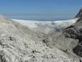 ... ale naštěstí tomu tak není. O kus dál jsme spatřili hlavní zbytek ledovce, který měl pár set metrů (tedy byl stále dost malý i na alpské poměry).
