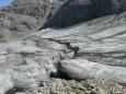 Malý zbytek ledovce nám posloužil jako nouzový zdroj vody, která za teplého počasí celkem rychle docházela. Myslím, že nebyla zas tak špatná.