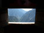 pohled z věhlasného venkovního WC na Kalergi do Samarie