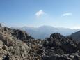 pohled na nejvyšší vrchol Levka Ori - Pachnes