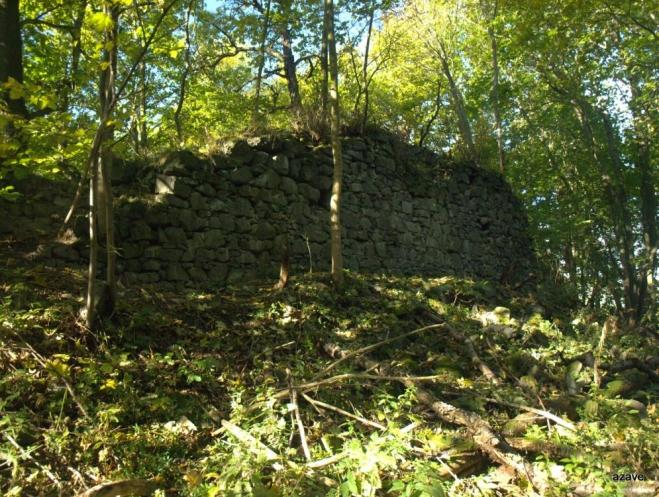 součástí parku je na kopci na zámkem zřícenina Neuhaus.