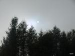 mlha a slunce nad Doupovem