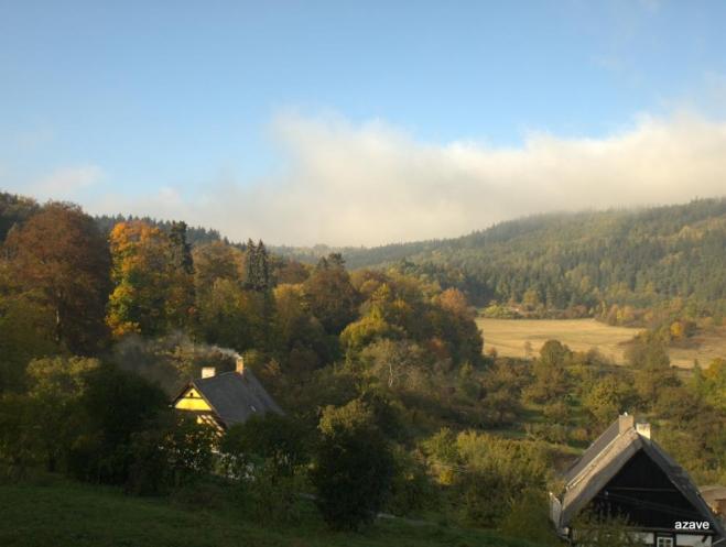 doupovské lesy a louky u zámku
