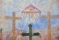 Malba na svatyni Kalvárie.