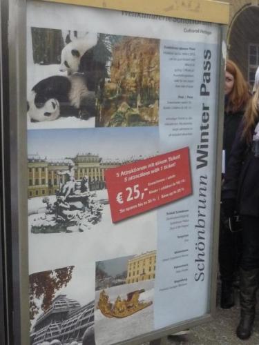 Zimní Schönbrunn