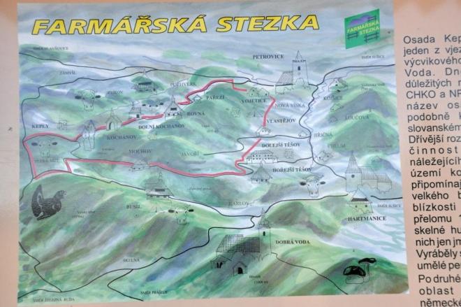Mapka Farmářské stezky.