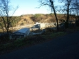 pohled na hráz přehrady