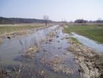 Soudný potok se na jaře pravidelně rozvodní.