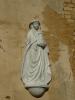 Svatá Barbora, patronka horníků, na stěně třídiče.