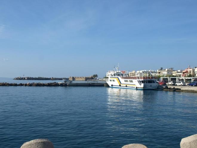 přístav v Ierapetra na jihovýchodu Kréty