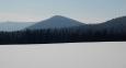 Vrch Homole (1 044m) nad Borovou Ladou.