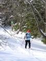 Sestup z Plechýho se sněžnicemi.