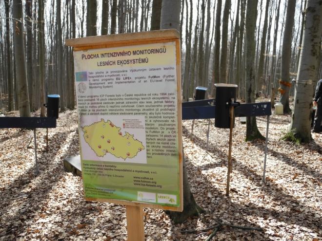 Plocha monitorování lesních ekosystémů.