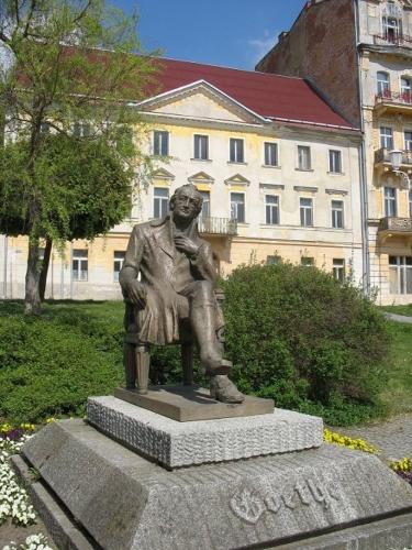 Pomník Johanna Wolfganga Goetheho v Mariánských lázních