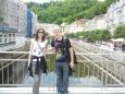 Část lázeňského centra se mnou a kámoškou Tinou
