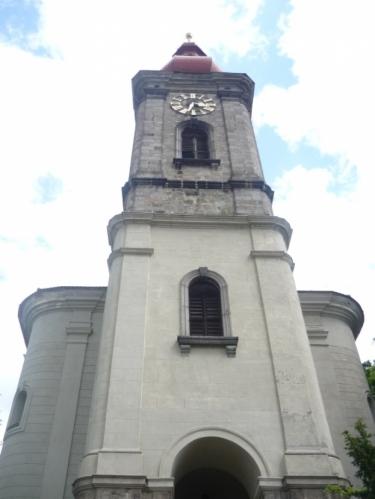 Kostelní věž v Bečově