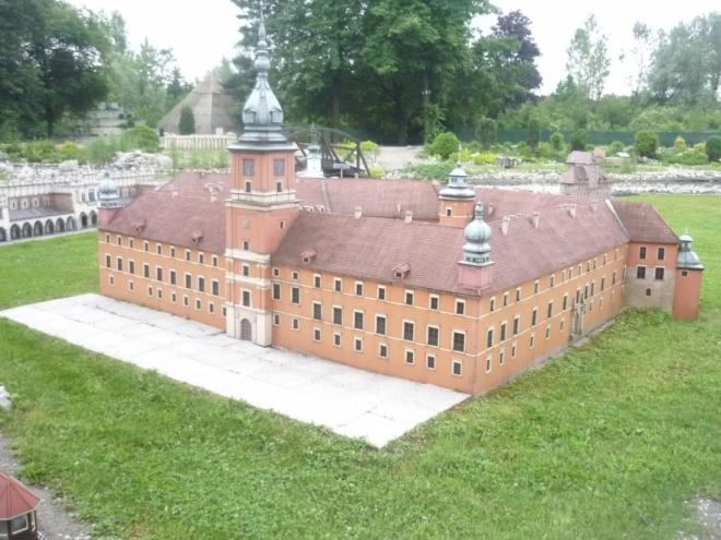 Miniatura Královského hradu v Krakowe