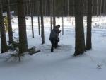Udusávání sněhu na místě, kam přijde stan.
