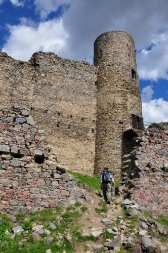 Vyšší věž je často uváděna jako rozhledna, výhled z ní je výborný.