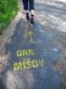 Gril Míšov má šipky po celém prostoru VVP Brdy.