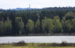 Vrchol Praha (862m). Vyšší v Brdech je jen Tok, o 2 m.