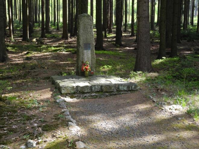 Pomník padlého partyzána.