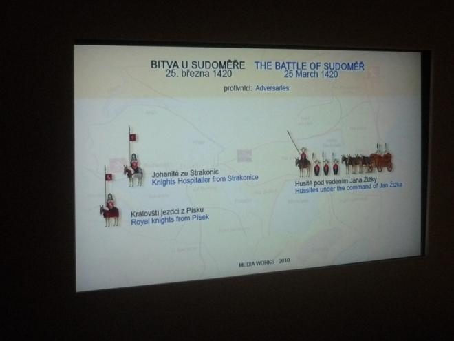 Výjev bitvy u Sudoměře - 25. 3. 1420