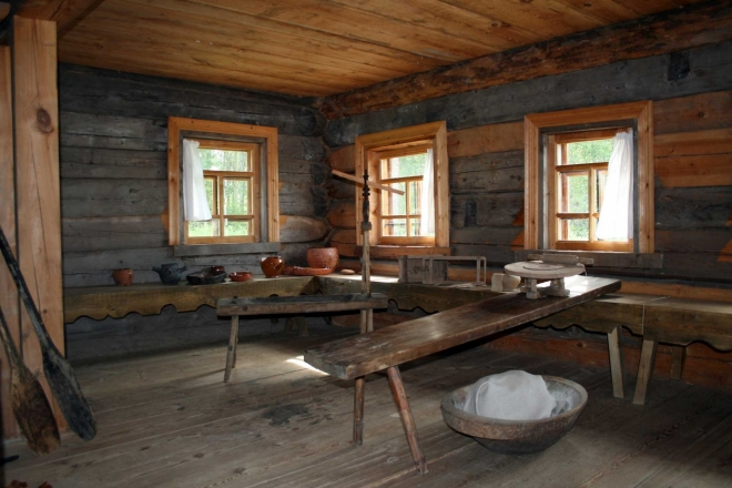 Interiér domu hrnčíře