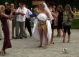 Ze soutěže mezi mužskou a ženskou částí svatebčanů