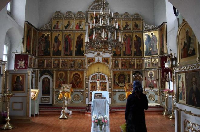 Vologda - Ikonostas v Sofijském chrámu