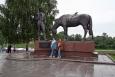 Vologda - Památník básníka K. Baťuškova