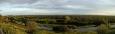 Panoráma delty Severní Dviny, v dálce průmyslový Novodvinsk