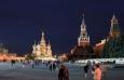 Noční pohled na Rudé náměstí