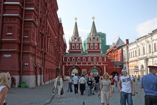 Voskresenská brána - pohled z Rudého náměstí