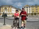 Moskevský Kreml - za námi je budova Senátu