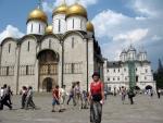 Moskevský Kreml - před Uspenským chrámem