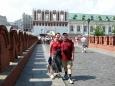 Odcházíme z Kremlu - v pozadí Kutafjeva Věž
