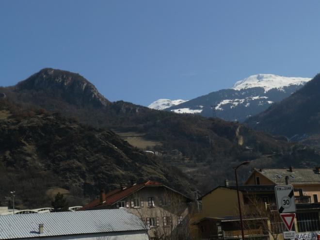 První pohled na Savojské Alpy