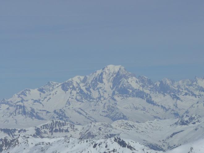 V dálce byla vidět nejvyšší hora Evropy – Mont Blanc