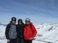 Já, brácha a strejda Jirka s Mont Blancem v pozadí
