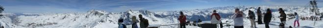 360° panorama z vrcholu Cime Caron