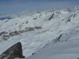 Pohled na Val Thorens z vrcholu Cime Caron