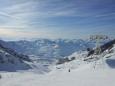 Odpolední pohled do údolí, kde leží i Val Thorens